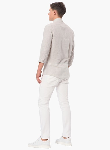 George Hogg Uzun Kollu Gömlek Bej